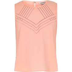 Girls coral embroidered front sleeveless vest $16.00