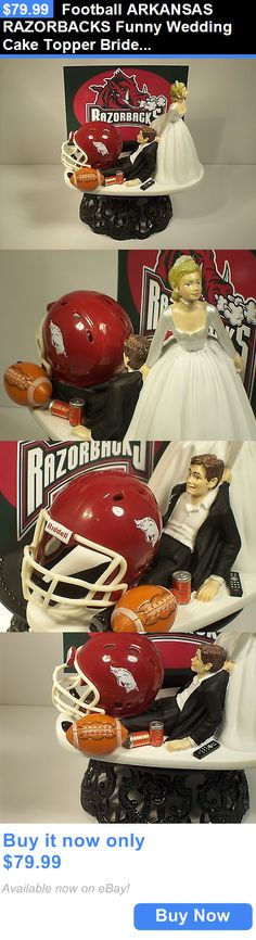 Wedding Cakes Toppers: Football Arkansas Razorbacks Funny Wedding Cake Topper Bride Groom BUY IT NOW ONLY: $79.99