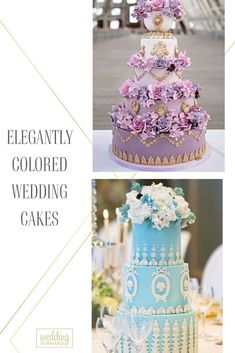 Pick a certain color palette for you wedding and a cake to match that colors. Check out these sophisticated colored wedding cakes and get inspired!#weddingforward #wedding #bride #weddingcakes