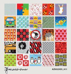 Azulejos Adesivos Decora nº 011 www.mejoganaparede.com.br