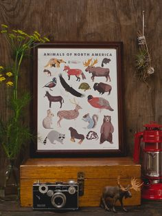 North American Animals Print   SMALL ADVENTURE. cute print for baby boy room?