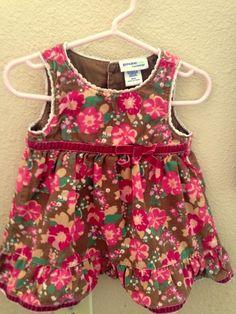 Genuine Baby from Oshkosh  Dress ,9 months, Corduroy, Everyday, Floral  #OshKoshBgosh #Everyday