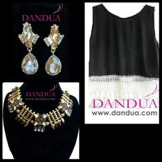 ¿Què os parece este conjunto? Negro y dorado nos encanta en Dandùa. www.dandua.com #bydandua #moda #conplementos #pendientes #collares #BBB #notelopierdas #elegante #comoda