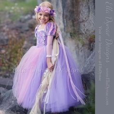 Rapunzel Tutu Dress Tangled-Inspired Costume por EllaDynae en Etsy