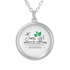 Jeep Girl Pendant Necklace