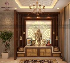 🙏Traditional Interior Designing Ideas for your Puja Room🙏 - interiordesign. - 🙏Traditional Interior Designing Ideas for your Puja Room🙏 – interiordesignideas - Living Room Partition Design, Pooja Room Door Design, Room Partition Designs, Home Room Design, Home Interior Design, Living Room Designs, Interior Designing, House Design, Studio Interior