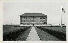 Lockport Louisiana LA 1922 High School Vintage Postcard