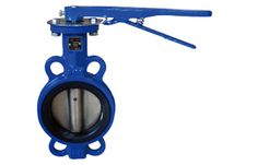 200 psi Wafer-Style Butterfly Valve MW224T 6 Milwaukee Valve Cast Iron 6 Pipe Size