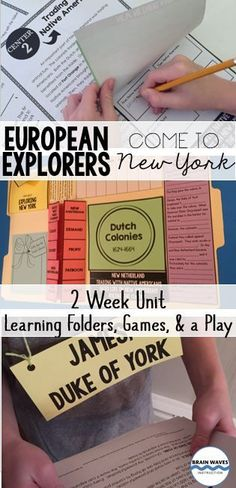 112 Pages!  In this interactive unit, students will study about the European explorers that voyaged to the Americas in search of the Northwest Passage. Then, they'll learn about the Dutch colonization of New York. Finally, they'll investigate how New York developed into an English colony. Throughout their lessons, students will work in small groups, independently, and as a whole class. Each lesson has been designed to be interactive, hands-on and engaging.