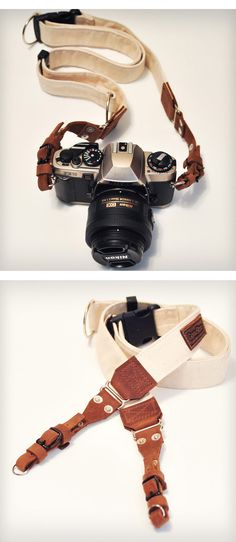 Leather & Canvas Camera Strap