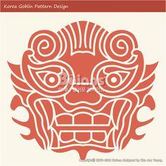 한국의 도깨비 문양 패턴디자인. 한국 전통문양 패턴 디자인 시리즈. (BPTD010014) Korea Goblin Pattern Design. Korean traditional Design Series. Copyrightⓒ2000-2014 Boians.com designed by Cho Joo Young.