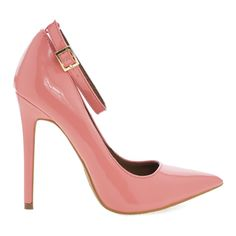 Leon Women's High Heel Dress Pump w/ Pointed Close Toe & Ankle Straps