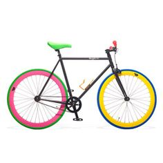 Goodbye, dull commute; hello, fixed-gear bicycle in this sporty-meets-preppy color combination.