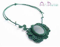 leafy chalcedony pendant