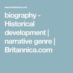 biography - Historical development | narrative genre | Britannica.com Classical Period, Thesis, Biography, Literature, Literatura, Biographies, Biography Books