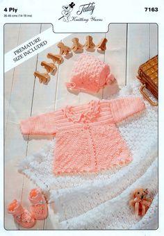 Vintage Crochet Baby Clothes