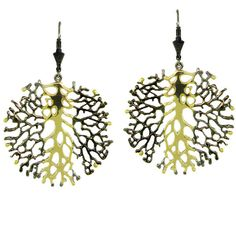 Pre-Owned Plukka Sterling Silver & 18K Yellow Gold Leafstruck Earrings ($1,150) ❤ liked on Polyvore featuring jewelry, earrings, no color, 18k gold earrings, 18 karat gold earrings, gold hook earrings, disc earrings and gold earrings