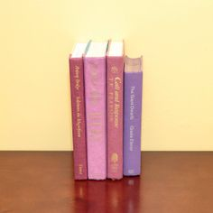 Collection of vintage books in shades of purple by GX2RetroFocus, $22.00
