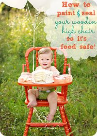 how to paint a wooden high chair so it's food safe