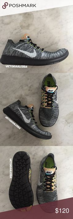 Men's Nike Free RN Flyknit Men's comfortable and cool Flyknit. Brand new with original box. A breathable and a featherweight design, virtually seamless. Responsive performance support with dynamic lockdown, and deep flex grooves for multidirectional agility.(No trades) Nike Shoes Sneakers