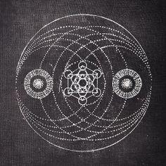 art Black and White Grunge geometry pale sacred geometry