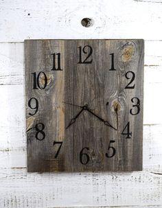 Rustic Barn Wood Wall Clock Reclaimed Wood by TheRusticPalette Wall Clock Wooden, Rustic Wall Clocks, Wood Clocks, Wood Wall, Reclaimed Barn Wood, Rustic Barn, Rustic Style, Barnwood Ideas, Rustic Decor