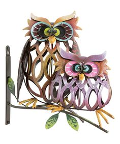 Look at this Colorful Owl Garden Décor on #zulily today!