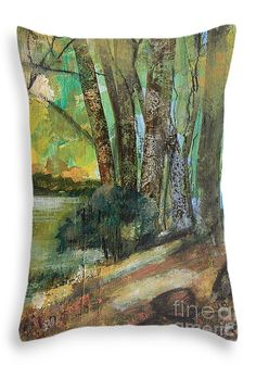 """Woods in the Afternoon Throw Pillow 20"""" x 14"""""""