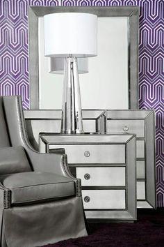 Love...love..love! Mirrored furniture