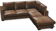 Canapé marron 5 places Angle KENNEDY, Maisons du monde, 117586, 1090€ - 3D Warehouse