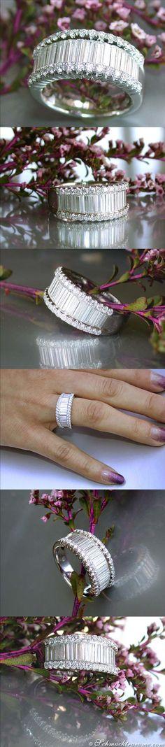#Capri #Jewelers #Arizona ~ www.caprijewelersaz.com ♥ Glamorous Diamond Ring, 1,73 cts. g-vvsi/vsi WG18K