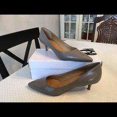 "NIB Nine West Illumie Kitten Heel Pumps Nine West Illumie Kitten Heel Pumps in taupe color. Heel is about one and 3/4"". Brand new in box. Size: 9 and 1/2. Perfect for work or dress up to go out! Nine West Shoes Heels"