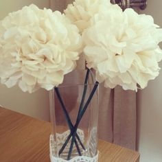 Paper tissue pom pom flowers. Diy wedding ideas
