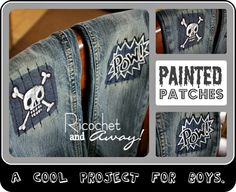 something fun to do when patching holes the boys jeans!