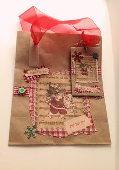 Christmas Gift Bag with Gift Envelope,Name Tag,Can Be Personalised,