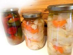 Φτιάχνω λάχανο και κουνουπίδι τουρσί - Συνταγή Fermented Foods, Greek Recipes, Chutney, Bon Appetit, Preserves, Pickles, Spinach, Mason Jars, Recipies