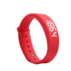 Unisex Fitness Tracker Health Bracelet Calorie Activity Pedometer Alarm Smart Watch (Red). Comfortable Wear: The device is very comfortable to wear as it is made almost entirely out of silicone and is very smooth. Attach it to your wrist is very easy as everything just sort of snaps into place thanks to the stretchy silicone material. Small and light, simple and fashionable,and multifunctional watch. Monitoring activity: records at any time the number of steps you walk, jog distance and...