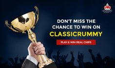 Don't Miss the chance to win on classicrummy!  Play Rummy Online & Win Real Chips  #rummy #onlinerummy #rummygames #freerummy #playrummy #Indianrummy #cardgames #onlinegames #classicrummy #classicrummywinner