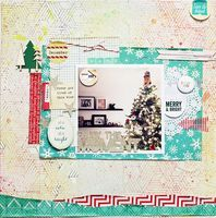 Christmas layout inspiration from the Sleigh Ride Collection. #cratepaper