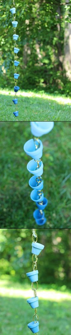 OMBRE RAIN CHAIN - Of course this would be for looks; it rarely rains here in the desert!  :)