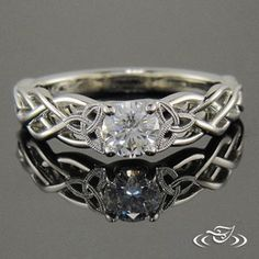 My Custom Jewelry Design at Green Lake Jewelry Works- Custom celtic knot work Engagement ring