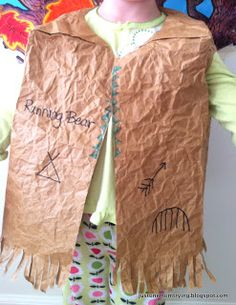 Just One Mom Trying: Preschool Thanksgiving Costumes: Indian Vest