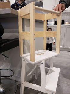 Kitchen Stools Ikea, Toddler Kitchen Stool, Kitchen Step Stool, Ikea Step Stool, Diy Stool, Ikea Hack Kids, Ikea Hacks, Montessori Ikea, Ikea Hack Learning Tower