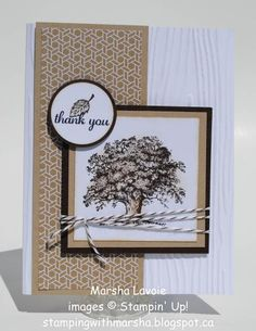 Thank you, lovely as a tree, express yourself, woodgrain embossing folder, great masculin card