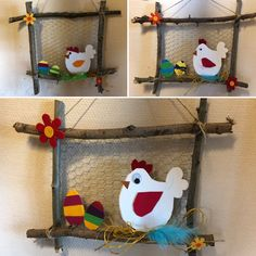 """Easter chick"" frame - Michaela - Ich Folge - Ostern - Easter chick frame Michaela Ich Folge The Effective Pictures We Offer You About Easter Recipes Idea - Spring Crafts For Kids, Diy For Kids, Kids Crafts, Diy And Crafts, Arts And Crafts, Paper Crafts, Hand Crafts, Easter Art, Easter Eggs"