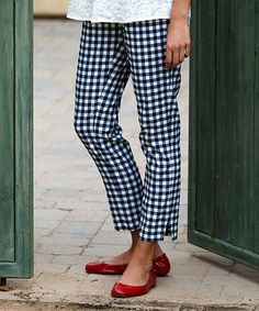Look what I found on #zulily! Navy Checkerboard Taylor Pants by Ava Rose Designs #zulilyfinds