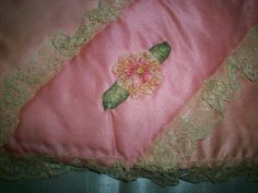 Beautiful silk keeper case for lingerie or fine hankies. Silk is strong. 5 x 9 folded. marvelous pink shades.
