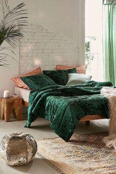 Slide View: 2: Skye Crushed Velvet Comforter