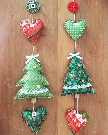 Handmade Christmas Decorations, Christmas Ornament Crafts, Christmas Crafts For Kids, Xmas Crafts, Christmas Projects, Christmas Diy, Xmas Decorations, Felt Ornaments Patterns, Fabric Ornaments