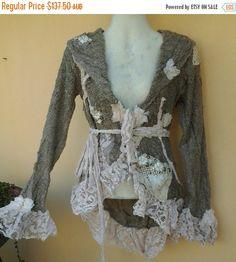 20%OFF bohemian gypsy boho coat lagenlook crochet от wildskin